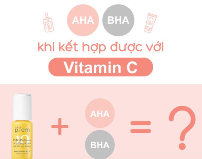 AHA có dùng chung với vitamin C được không
