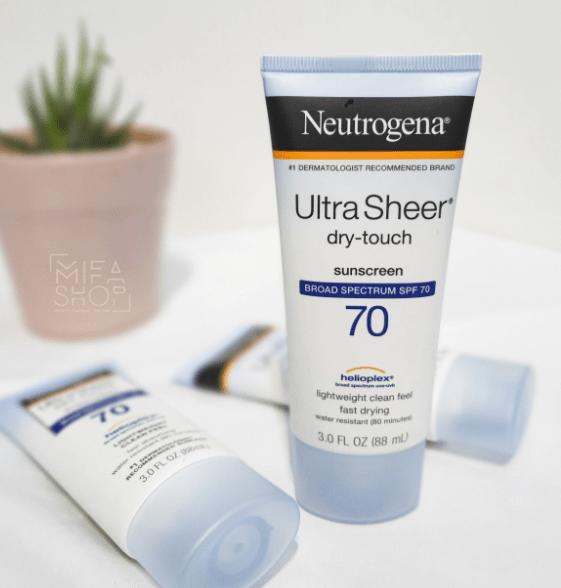 Review các loại kem chống nắng Neutrogena