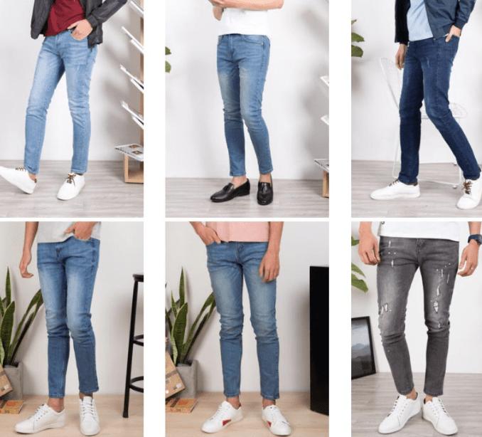 Tổng hợp shop bán quần jean nam đẹp trên Shopee