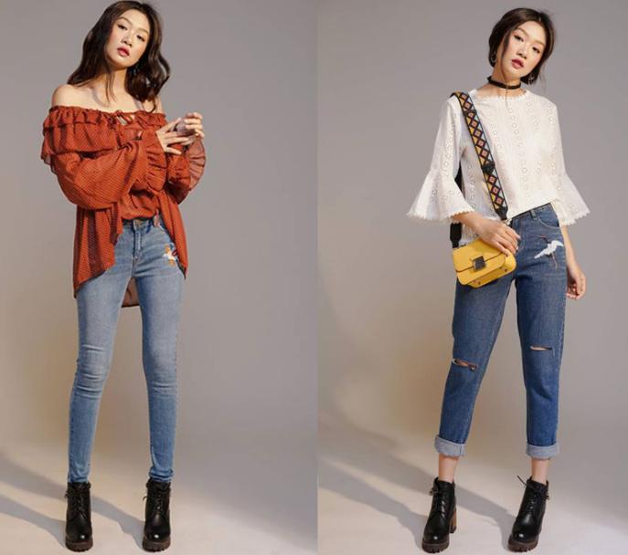 Shop bán quần jean nữ đẹp trên Shopee
